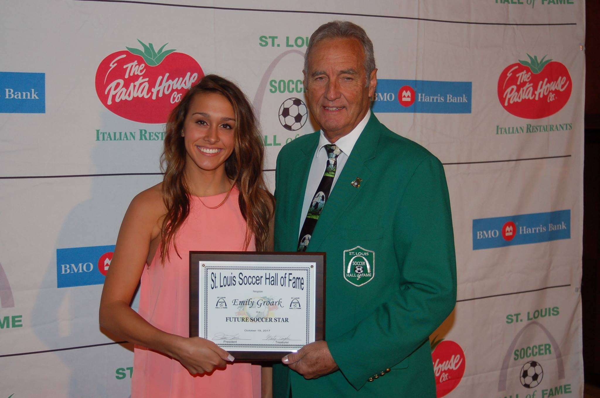 SLSG's Emily Groark Honored at STL Soccer Hall of Fame