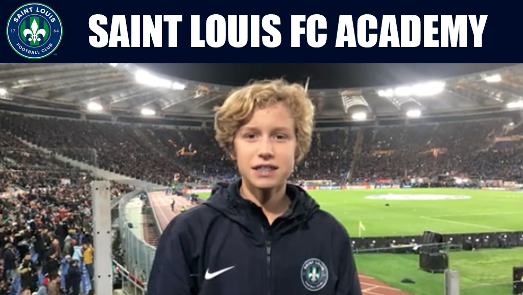 STLFC Academy U15 Player Trains with AS Roma