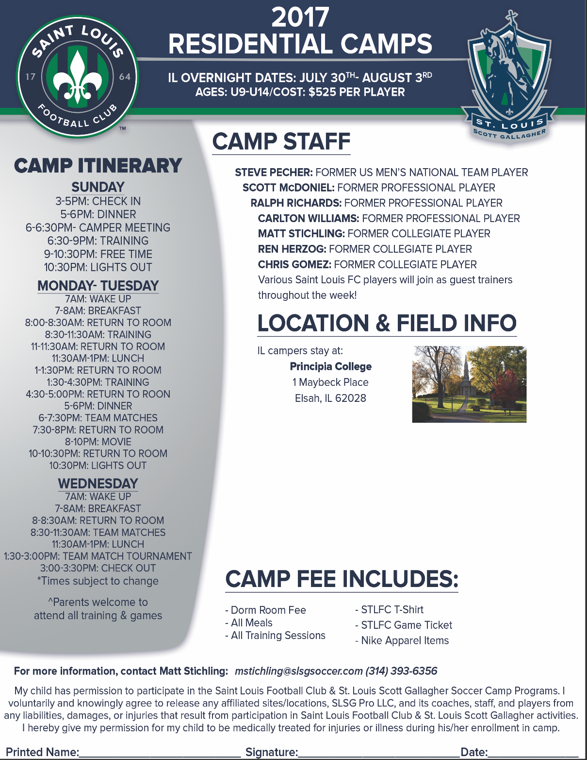 SLSG IL - Overnight Camps Flyers