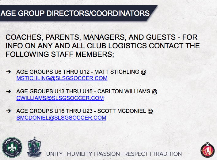 Age Group Director/Coordinators