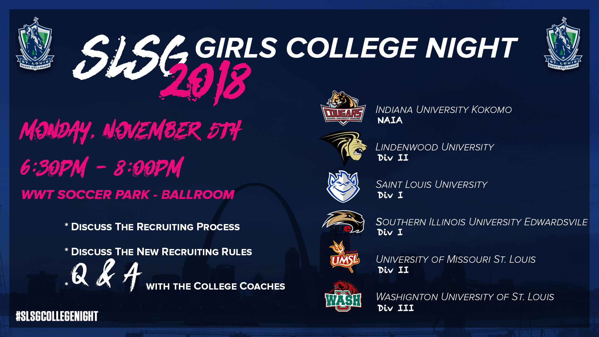 SLSG Hosts Annual College Night at the Park